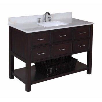 kbc new hshire 48 quot single bathroom vanity set reviews