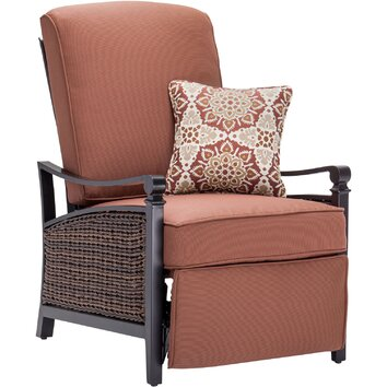 Carson Luxury Outdoor Recliner Chair With Cushions Wayfair