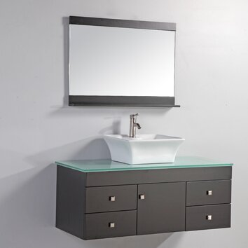 Nepal 48 single sink bathroom vanity set with mirror for Kitchen sink in nepal