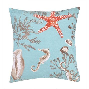 Laurel and Mayfair Sealife Decorative Cotton Throw Pillow