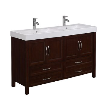 Runfine Group Larissa 56 Double Bathroom Vanity Set Reviews Wayfair