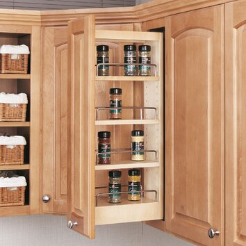 love this pull out spice rack, one of the best kitchen cabinet organizers to use narrow space