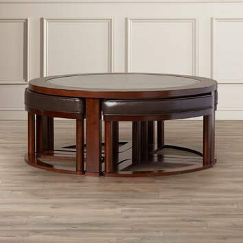 Darby Home Co Thornburgh 5 Piece Coffee Table & Stool Set