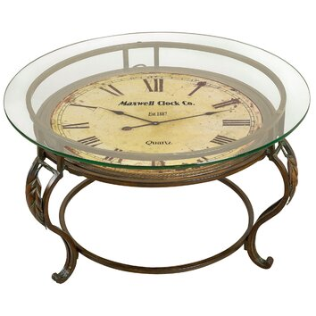Alcott Hill Lytton Coffee Table with Clock