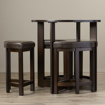 Brayden studio altha 5 piece dining table set reviews wayfair - Piece dining set small spaces plan ...