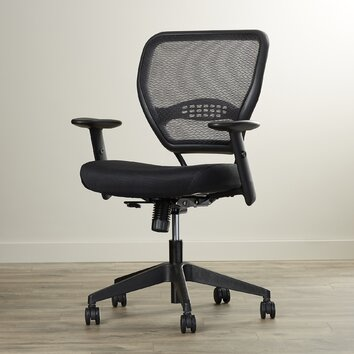 office star space deluxe mid back task chair with arms