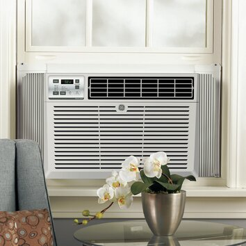 General Electric 8500 BTU Energy Star Window Air Conditioner with Remote, Designed to be GE's quietest 8,000 BTU air conditioner Chassis type: Fixed Filter type: One touch lift-out Louver style: 4-Way adjustable Rotary compressor: Yes