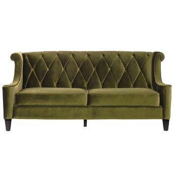 Armen Living Barrister Velvet Sofa amp Reviews Wayfair