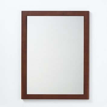 ronbow contemporary solid wood framed bathroom mirror in american