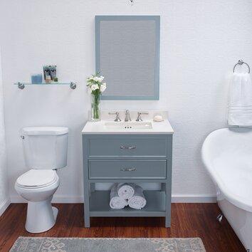 Simple  Newcastle 243939 Single Bathroom Vanity Set With Mirror  Walmartcom
