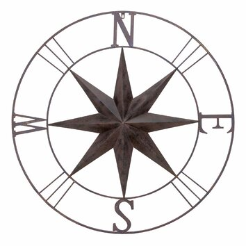 Bayaccents Antique Metal Compass Rose Wall Decor Amp Reviews