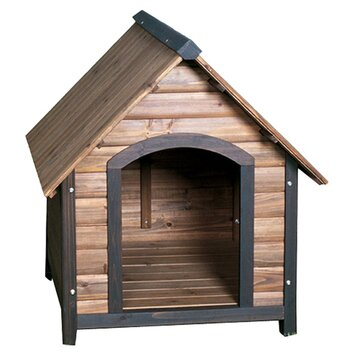 Precision Pet Outback Country Lodge Dog House is perfect for a dog of any size. It is high on durability and functionality. This dog house is spacious enough to let your dog stretch and sprawl around.