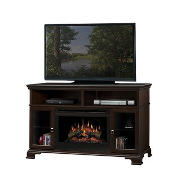 Dimplex Brookings Tv Stand With Electric Log Fireplace Reviews Wayfair