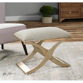 uttermost kiah upholstered modern bedroom bench reviews wayfair