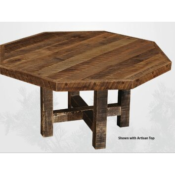wayfair bathroom cabinets fireside lodge artisan barnwood octagon dining table 15030
