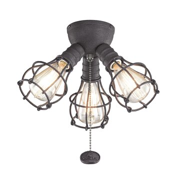Kichler industrial 3 light fixture kit reviews wayfair for Industrial lamp kit