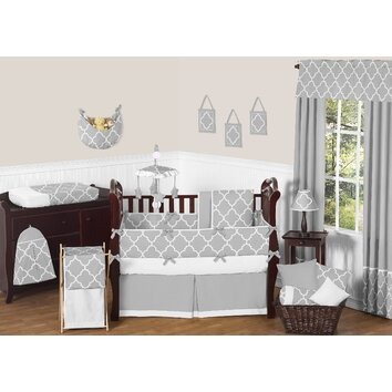 Sweet Jojo Designs Trellis 9 Piece Crib Bedding Set and ideas on how to decorate a baby's room