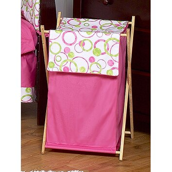 Sweet Jojo Designs Circles Pink Laundry Hamper Amp Reviews