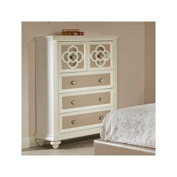 parisian mirrored 4 drawer chest 3