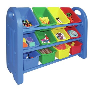 Ecr4kids 3 tier toy organizer 12 compartment cubby elr 0216