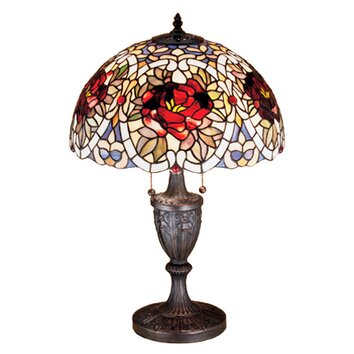 Meyda Tiffany Renaissance Rose 24 Quot H Table Lamp With Bowl