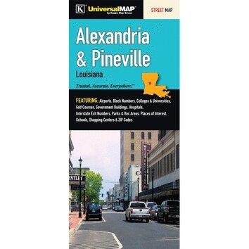 Alexandria Pineville Louisiana Fold Map Wayfair