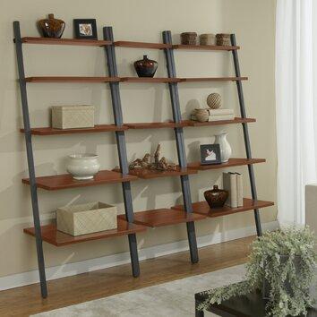 Parson 71 Quot Leaning Bookcase Wayfair