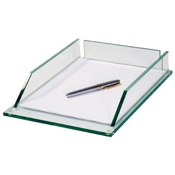 glass letter tray wayfair supply With glass letter tray