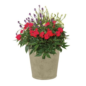 Suncast Langston Round Planter (Set of 2)
