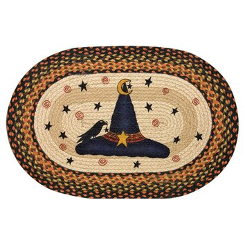 EarthRugs Witch Hat Printed Oval Area Rug
