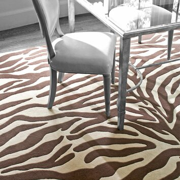 Dash And Albert Rugs Tufted Zebra Brown Beige Area Rug