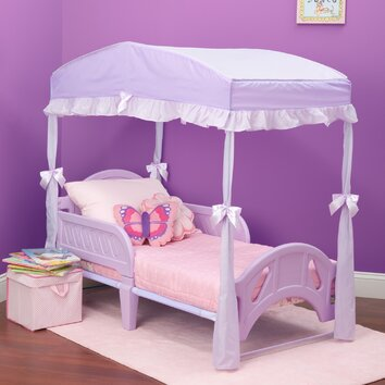 Toddler Canopy Bed : Delta Girls Toddler Canopy Bed