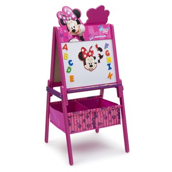 Wooden double sided activity easel te87574mn
