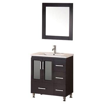Design Element Milan Stanton 32 Single Modern Bathroom Vanity Set With Mirror Reviews Wayfair
