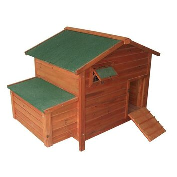 Aosom pawhut deluxe wooden large chicken coop hen house for Aosom llc outsunny chaise lounge
