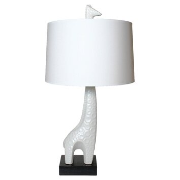 jonathan adler utopia giraffe 29 h table lamp with drum shade. Black Bedroom Furniture Sets. Home Design Ideas