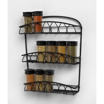 For wall spice racks, pick one that goes with your kitchen decor