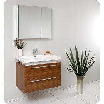 "Fresca Senza 31"" Single Medio Modern Bathroom Vanity Set ..."
