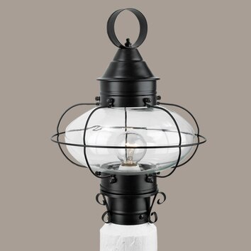 norwell lighting cottage onion 1 light outdoor post light reviews. Black Bedroom Furniture Sets. Home Design Ideas