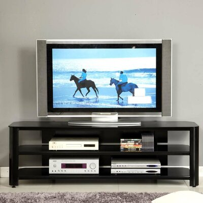 Glass TV Stand by dCOR design