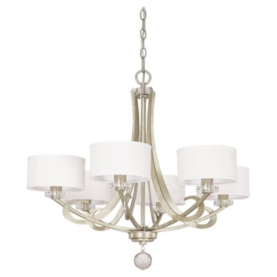 Hutton 6 Light Chandelier with Shades by Capital Lighting