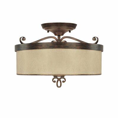 Reserve 3 Light Semi Flush Mount Product Photo