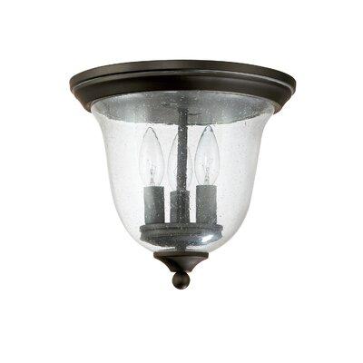 3 Light Flush Mount Product Photo