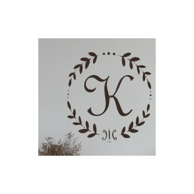 Alphabet Garden Designs Personalized French Vine Monogram Wall Decal