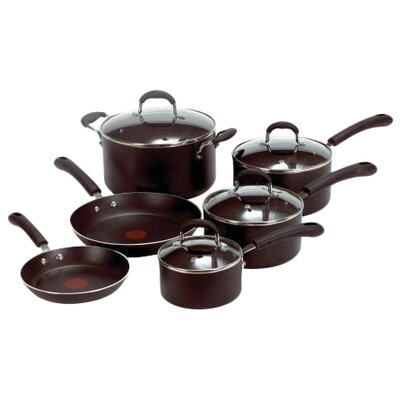 Professional Stainless Steel 10 Piece Nonstick Cookware Set by T-fal