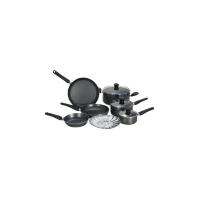 T-fal Initiatives Aluminum 10 Piece Cookware Set