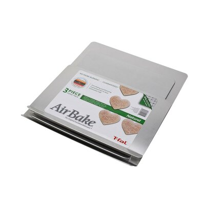 Airbake 3 Piece Natural Aluminum Cookie Sheet Set by T-fal