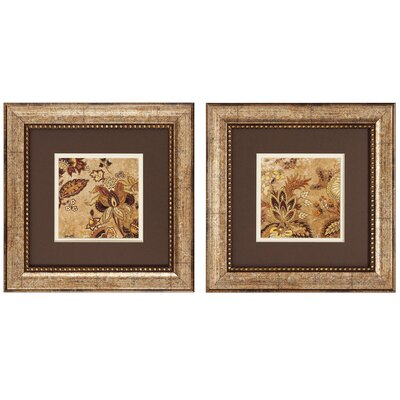 Floral Beige I & II Framed Canvas Art by Propac Images