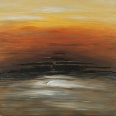 Orange Sky Original Painting on Wrapped Canvas by Paragon