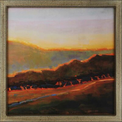 Western Sunset Exclusive by Sokol-Hohne Framed Painting Print by Paragon
